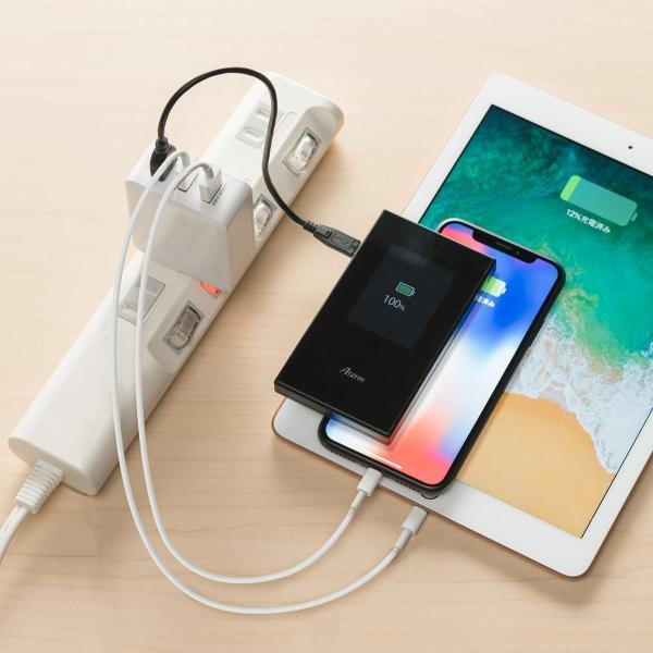 USB充電器 3ポート ACアダプター スマホ 充電 合計4.8A 出張 旅行 コンパクト(即納)|sanwadirect|19