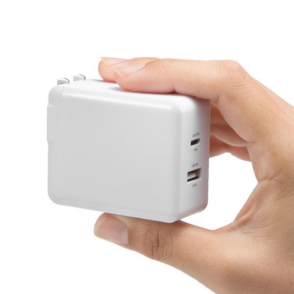 USB 急速 充電 PD充電器 iPad Pro 充電器 18W Type Cポート 小型 タイプC|sanwadirect|18