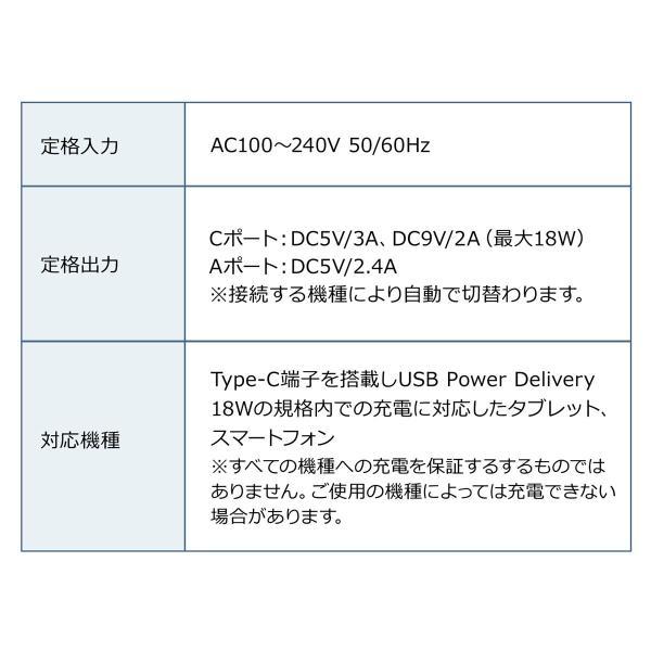 USB 急速 充電 PD充電器 iPad Pro 充電器 18W Type Cポート 小型 タイプC|sanwadirect|10