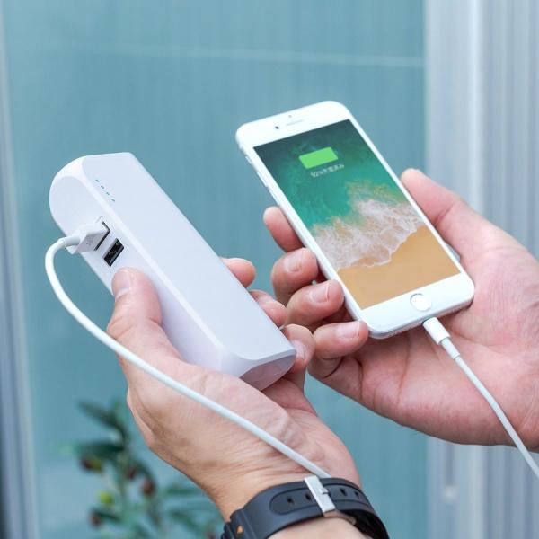 モバイルバッテリー ACプラグ コンセント 内蔵 携帯 スマホ iPhone iPad Android 2台同時充電(即納)|sanwadirect|17