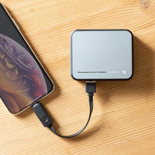 モバイルバッテリー  Lightning microUSB ケーブル収納 内蔵 ケーブル付き|sanwadirect|19