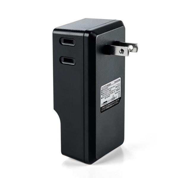 USB 充電器 コンセント スマホ iPhone 急速充電 Type-C ケーブル付き セット(即納) sanwadirect 14