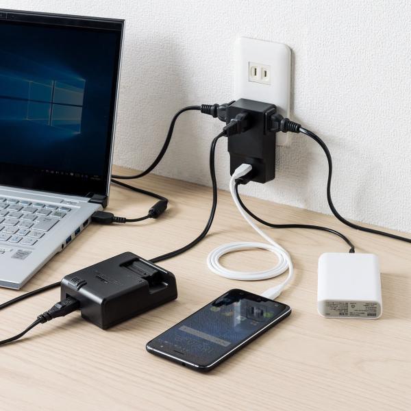 USB 充電器 コンセント スマホ iPhone 急速充電 Type-C ケーブル付き セット(即納) sanwadirect 19
