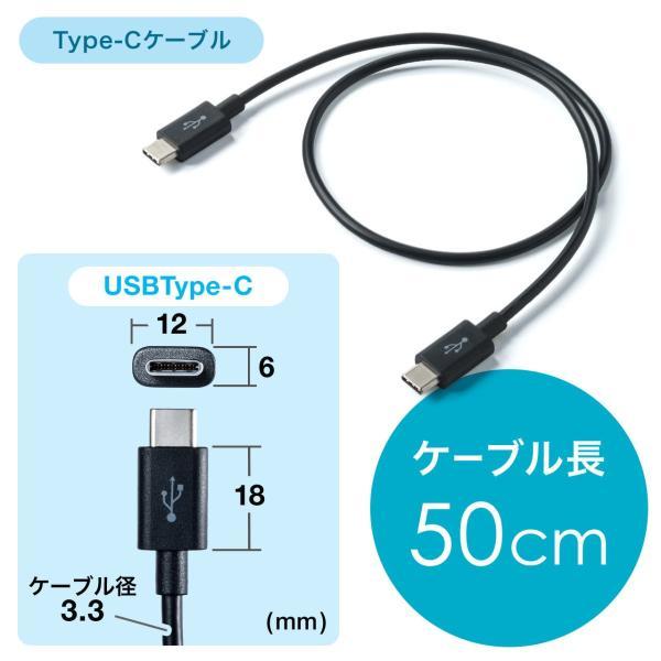 USB 充電器 コンセント スマホ iPhone 急速充電 Type-C ケーブル付き セット(即納) sanwadirect 10