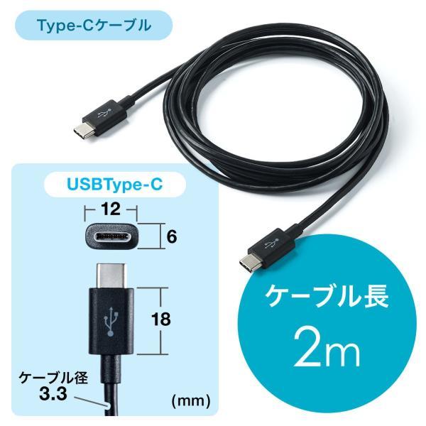 USB 充電器 コンセント スマホ iPhone 急速充電 Type-C ケーブル付き セット(即納)|sanwadirect|10