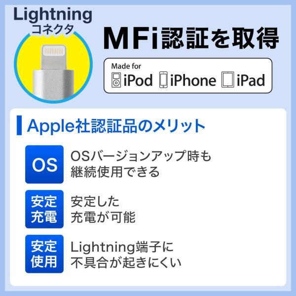 3in1 ライトニング マイクロUSB USB Type-Cケーブル Lightning microUSB Type-C対応 充電通信 1本3役+USB充電器 2A ホワイトセット|sanwadirect|03