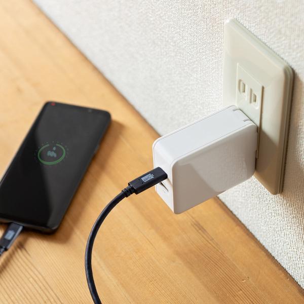 iPhone 高速充電 ケーブル 充電器セット PD充電器  PD最大18W Type C ポート タイプC USB充電器 コンパクト USB-C - Lightningケーブルセット(即納) sanwadirect 14