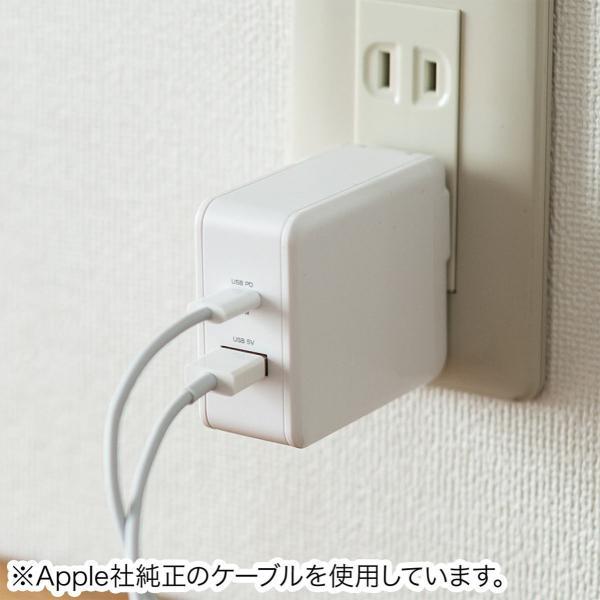 iPhone 高速充電 ケーブル 充電器セット PD充電器  PD最大18W Type C ポート タイプC USB充電器 コンパクト USB-C - Lightningケーブルセット(即納) sanwadirect 19