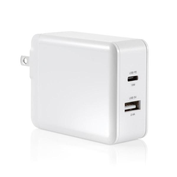 iPhone 高速充電 ケーブル 充電器セット PD充電器  PD最大18W Type C ポート タイプC USB充電器 コンパクト USB-C - Lightningケーブルセット(即納) sanwadirect 20