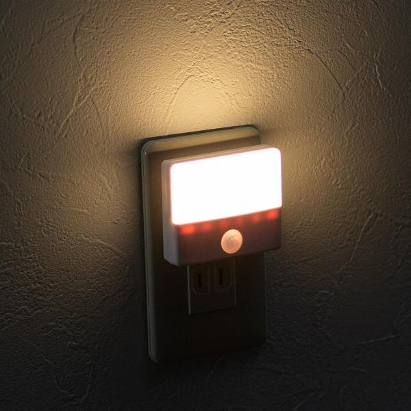 人感センサーライト 屋内 コンセント式 LED 足元灯 ナイトライト 自動点灯(即納) sanwadirect 14