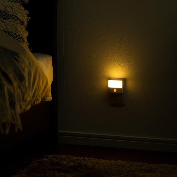 人感センサーライト 屋内 コンセント式 LED 足元灯 ナイトライト 自動点灯(即納) sanwadirect 15