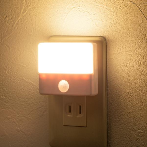 人感センサーライト 屋内 コンセント式 LED 足元灯 ナイトライト 自動点灯(即納) sanwadirect 19