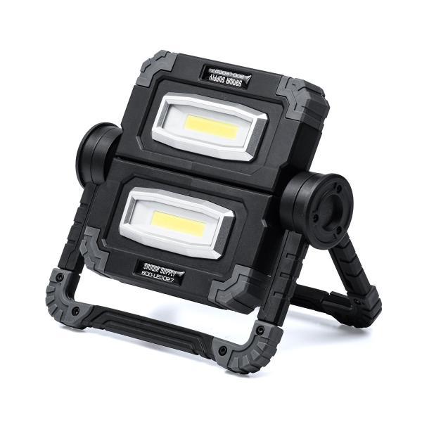 LED投光器 作業灯 充電式 ワークライト 屋外 アウトドア 20W 850ルーメン(即納)|sanwadirect|20