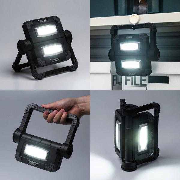 LED投光器 作業灯 充電式 ワークライト 屋外 アウトドア 20W 850ルーメン(即納)|sanwadirect|07
