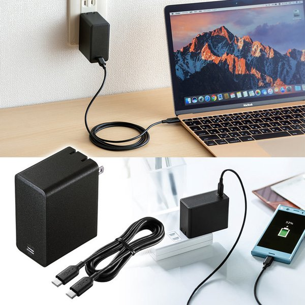 USB Power Delivery対応AC充電器 45W(即納)|sanwadirect|03