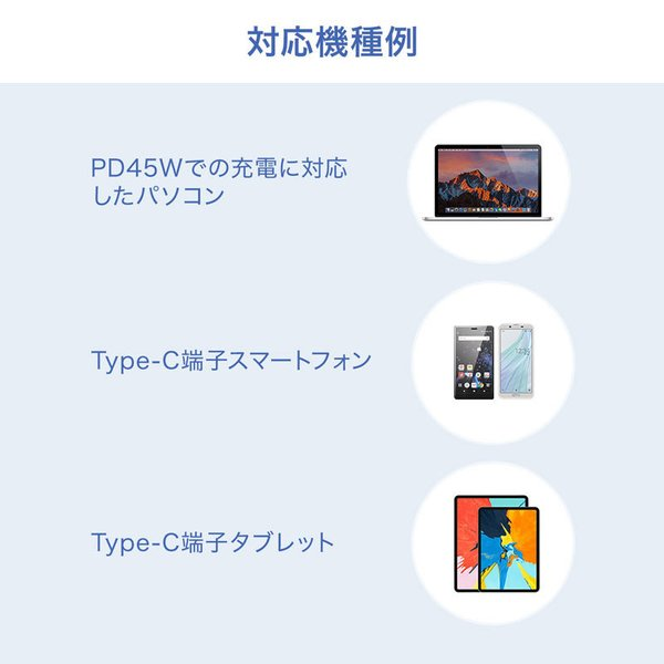 USB Power Delivery対応AC充電器 45W(即納)|sanwadirect|05