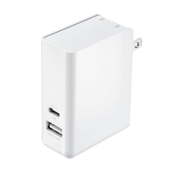 AC充電器 Type-Cポート PD対応 合計30W 2ポート(ACA-PD62W)(即納)|sanwadirect|05