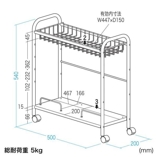 配線収納マルチワゴン(CB-WG1)(即納)|sanwadirect|11