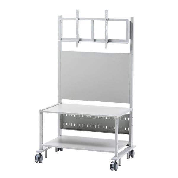 液晶ディスプレイスタンド 55から84型対応 棚付き(即納)|sanwadirect