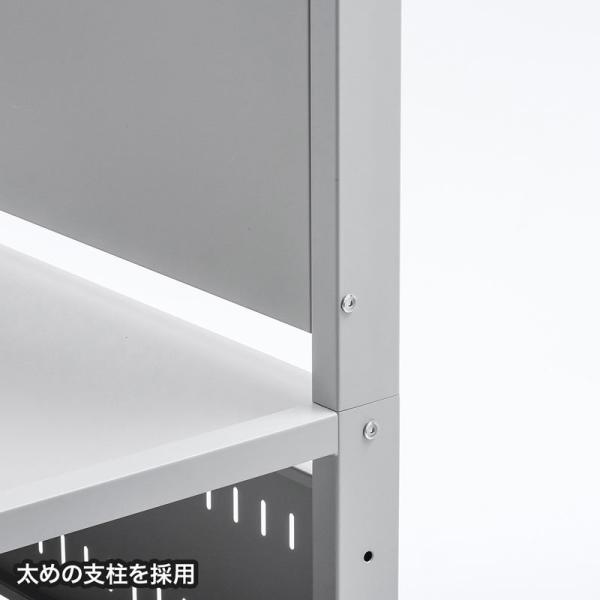 液晶ディスプレイスタンド 55から84型対応 棚付き(即納)|sanwadirect|04