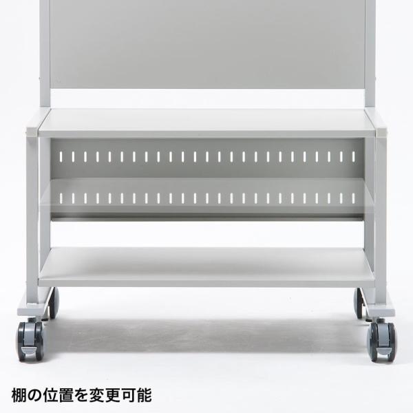 液晶ディスプレイスタンド 55から84型対応 棚付き(即納)|sanwadirect|08
