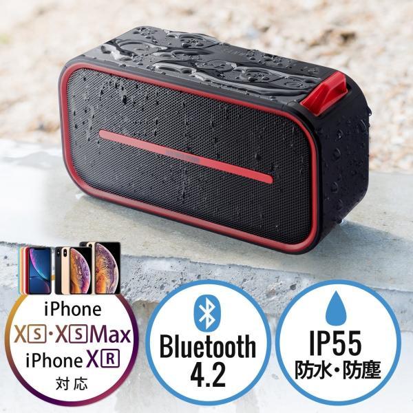 Bluetoothスピーカー 防水 ワイヤレススピーカー ブルートゥース iPhone スマホ 高音質 大音量 重低音 ポータブル 連続8時間再生|sanwadirect|21