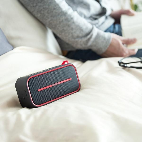 Bluetoothスピーカー 防水 ワイヤレススピーカー ブルートゥース iPhone スマホ 高音質 大音量 重低音 ポータブル 連続8時間再生|sanwadirect|09