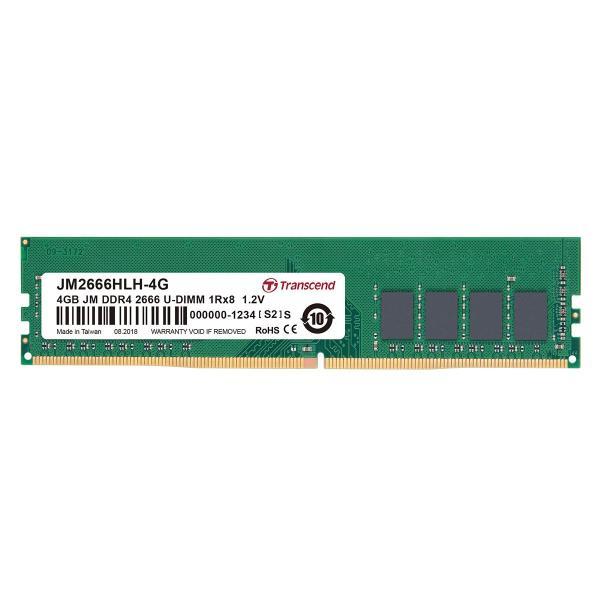 増設メモリ デスクトップパソコン用 4GB DDR4-2400 PC4-19200 U-DIMM JM2400HLH-4G Transcend|sanwadirect
