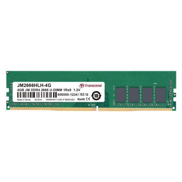 増設メモリ デスクトップパソコン用 4GB DDR4-2666 PC4-21300 U-DIMM JM2666HLH-4G Transcend|sanwadirect