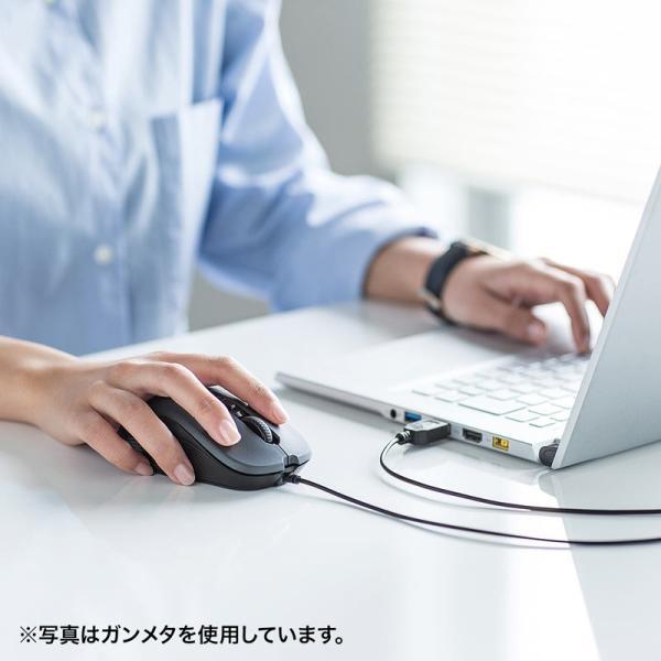 有線ブルーLEDマウス 5ボタン レッド(MA-BL114R)(即納)|sanwadirect|14