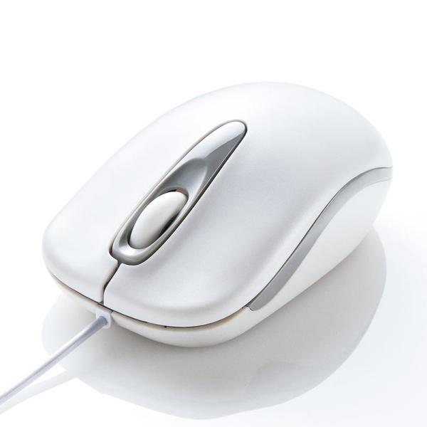 有線マウス ブルーLED 3ボタン ホワイト(即納)|sanwadirect|05