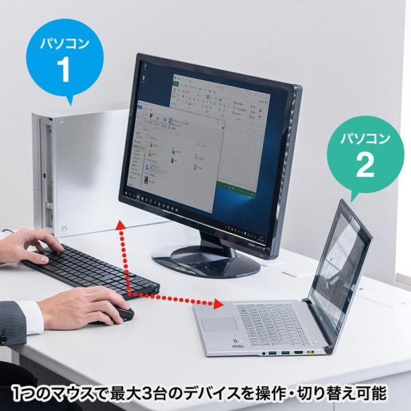 Bluetooth3.0マウス マルチペアリング対応 3台切替(MA-BTBL121BK)(即納)|sanwadirect|03