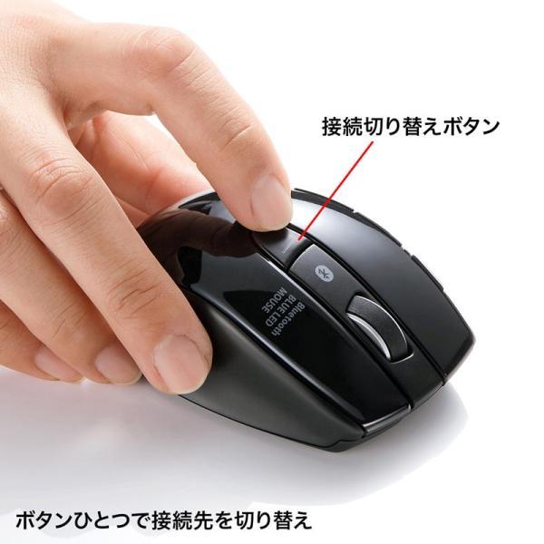 Bluetooth3.0マウス マルチペアリング対応 3台切替(MA-BTBL121BK)(即納)|sanwadirect|05
