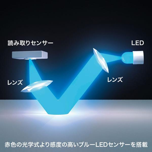 ワイヤレスブルーLEDマウス 充電式 レッド(MA-WBL118R)(即納)|sanwadirect|05