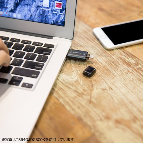 Lightning USBメモリ iPhone 32GB Transcend USB3.1対応 MFI認証 TS32GJDG300S 2年保証 sanwadirect 03