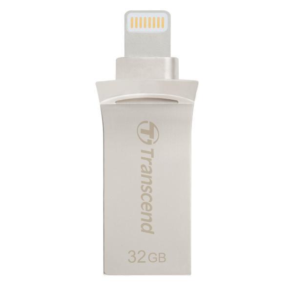 Transcend Lightning USBメモリ iPhone 32GB USB3.1対応 MFI認証 TS32GJDG500S 2年保証|sanwadirect