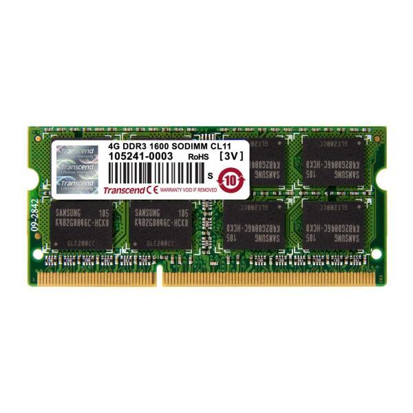 DDR3-1600 PC3-12800 Transcend ノートPC用増設メモリ 4GB SO-DIMM TS512MSK64V6N(即納)|sanwadirect|02