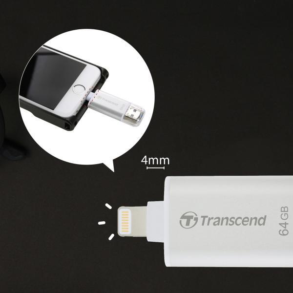 Lightning USBメモリ iPhone 64GB Transcend USB3.1対応 MFI認証 TS64GJDG300K 2年保証|sanwadirect|13