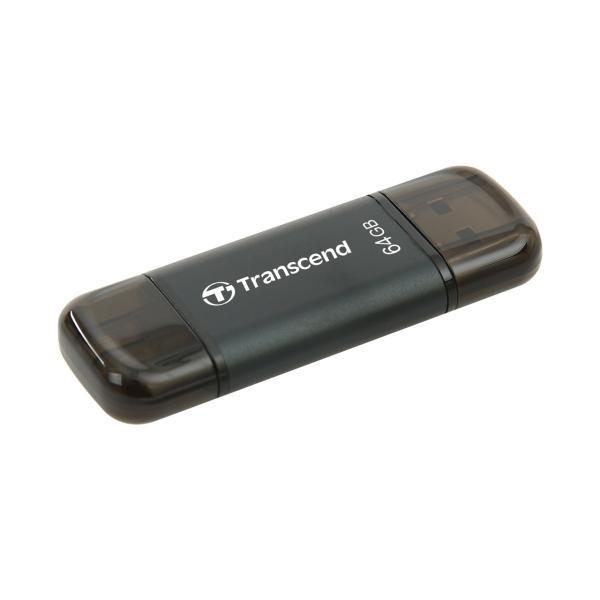 Lightning USBメモリ iPhone 64GB Transcend USB3.1対応 MFI認証 TS64GJDG300K 2年保証|sanwadirect|07