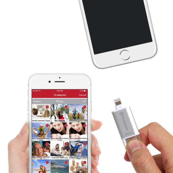 Lightning USBメモリ iPhone 64GB Transcend USB3.1対応 MFI認証 TS64GJDG300S 2年保証(即納)|sanwadirect|04