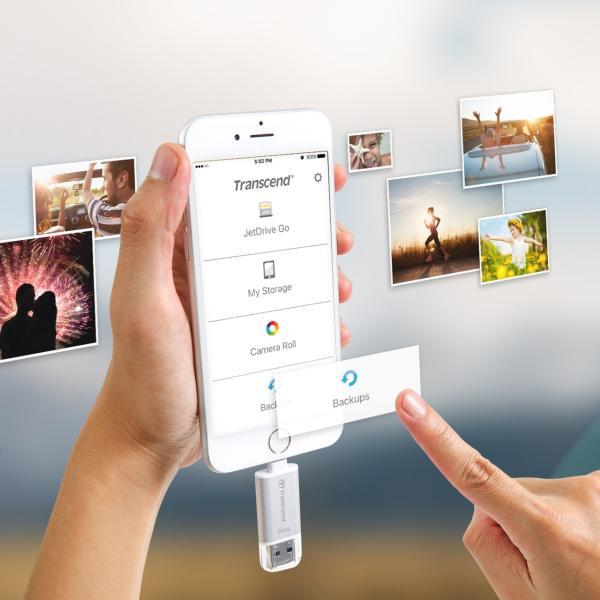 Lightning USBメモリ iPhone 64GB Transcend USB3.1対応 MFI認証 TS64GJDG300S 2年保証(即納)|sanwadirect|10