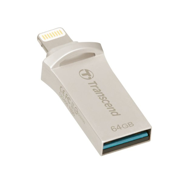 Transcend Lightning USBメモリ iPhone 64GB USB3.1対応 MFI認証 TS64GJDG500S 2年保証|sanwadirect|02