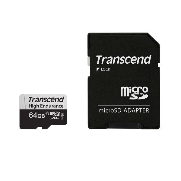 microSD 64GB microSDカード マイクロSD Transcend Class10 SDカード 変換アダプタ付  高耐久|sanwadirect|04