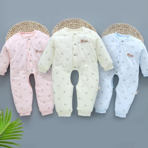 長袖 ロンパース 肌着 つなぎ 秋冬 新生児 幼児   前開き   かわいい  カバーオール 女の子 男の子 ジャンプスーツ ベビー服 赤ちゃん 百日祝い 出産祝い|sanwafashion