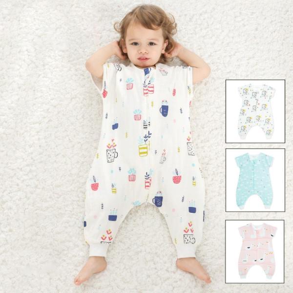 新生児 スリーパー 赤ちゃん おくるみ ガーゼ コットン ジッパー型  カラフル  柔ら  かい  綿毛布   寝具 ベビー パジャマ 出産祝い 退院 お宮参り   冷房対策|sanwafashion