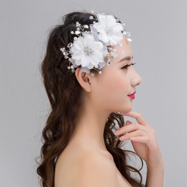お嫁さん 髪飾り かんざし 花嫁 レディース ヘアアクセサリー  ウェディング 結婚式 髪留め ヘッドアクセ 結婚式 入学式|sanwafashion|05