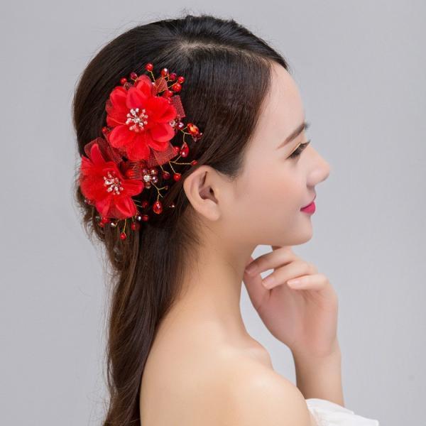 お嫁さん 髪飾り かんざし 花嫁 レディース ヘアアクセサリー  ウェディング 結婚式 髪留め ヘッドアクセ 結婚式 入学式|sanwafashion|06