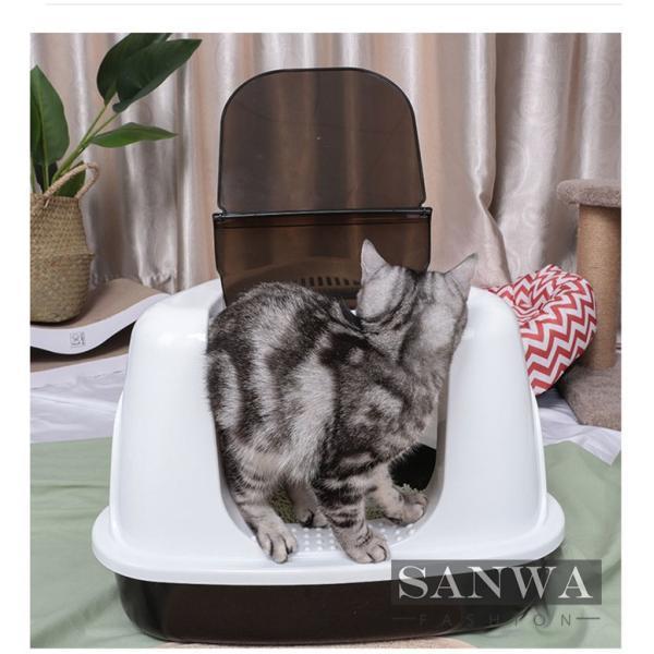 トイレ 猫用 ペットトイレ 猫用トイレ ネコトイレ お掃除簡単 オ  シャレ かわいい 猫用 本体 猫用トイレ用品 おしゃれ 人気|sanwafashion|03