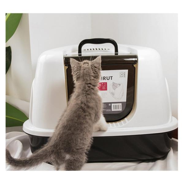 トイレ 猫用 ペットトイレ 猫用トイレ ネコトイレ お掃除簡単 オ  シャレ かわいい 猫用 本体 猫用トイレ用品 おしゃれ 人気|sanwafashion|04