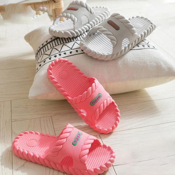男女兼用 バススリッパ スリッパ ビニールスリッパ 夏用 洗える ルームシューズ 室内用 来客用 北欧 履きやすい サンダル お手入れ簡単 室内履き|sanwafashion